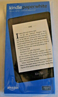 Amazon Kindle Paperwhite Waterproof 8GB Storage Includes Special Offers BLUE NEW