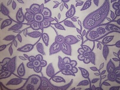 Vintage Cotton sheets abstract purple floral - pair single