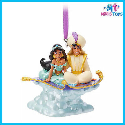Disney Aladdin and Jasmine Singing Living Magic Sketchbook Ornament brand new