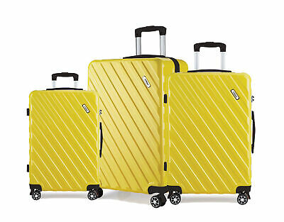 TODO ULTRA LIGHT LUGGAGE SET 3pcs HARD SHELL COMBINATION LOCKS - YELLOW
