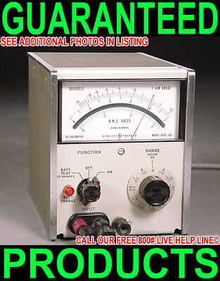 Hp Agilent 403B Analog Ac Rms Voltmeter 5Hz-2Mhz Millivolt Meter Audio Level Vu