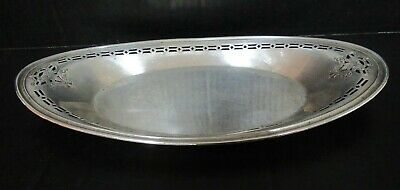 Antique Manchester Silver Co Reticulated Border Sterling Bread Tray 153 Grams