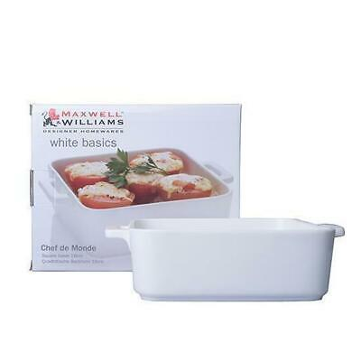 Square Baking Dish 16x5.5cm Maxwell & Williams White Basics Gift Boxed Baker