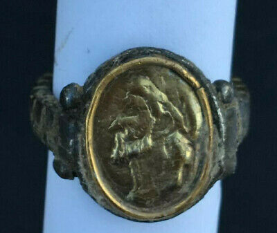 Roman Ancient Silver-Gold Ring- R0092