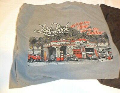 "Laid-Back USA T Shirt Dodge /""We Do the Fillin/' You do the Chillin/"" Blue 3XL"