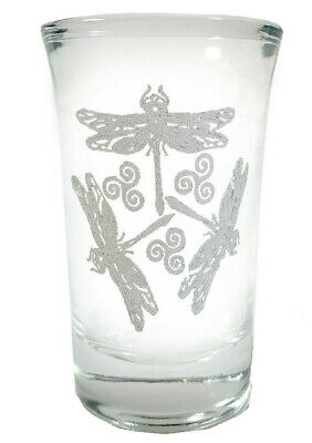 Dragonfly Shot Glass - Free Personalized Engraving, 1.5 oz Shot Glass