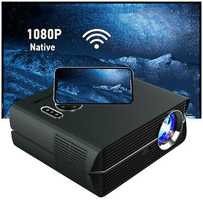 LED HD Android WiFi Projector Home Cinema Bluetooth Video Movie 1080p HDMI Party