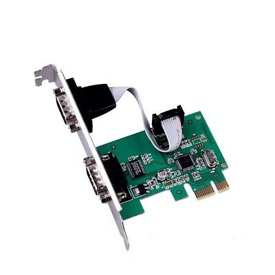 2 Port PCI-E PCI to Dual Serial DB9 RS232 Express Serial Controller Adapter Card