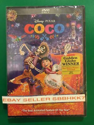 Coco (DVD,2018) {{{AUTHENTIC W/ DISNEY REWARDS POINTS READ}}} New Free Shipping
