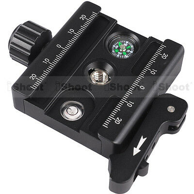 Adjustable Lever Clamp for 38mm-39mm Camera Tripod Ball Head Quick Release Plate