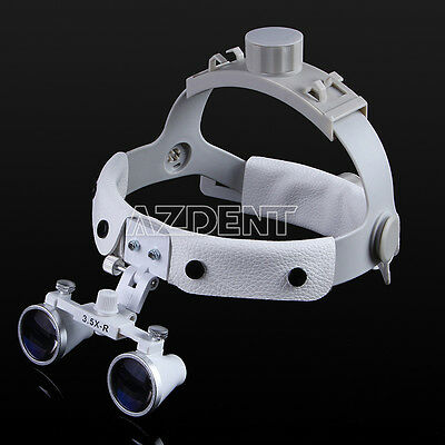 Dental 3.5 X Magnifier Binocular Headband Surgical Medical Loupes Glasses Wgite