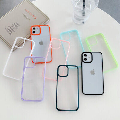 Color Bumper Clear Case For iPhone 11 Pro Max Xs X XR 7 8 Plus Hybrid Hard Cover