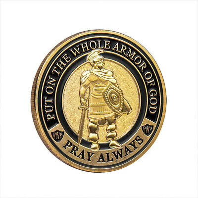 Knight commemorative coin Knight honor coin Put on The Whole Armor of God KY