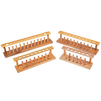 6/8/10/12 Hole Wooden Test Tube Rack Tubes Holder Storage Stand Lab Supplies