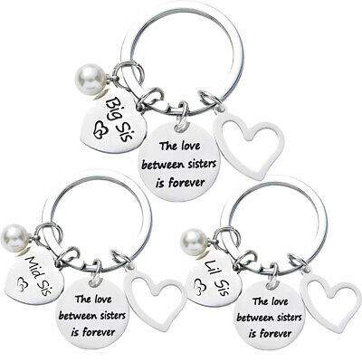 Sisters Keyring Best Friends Gifts For Big Mid Lil Sister Key Ring Present Xmas
