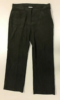 Coldwater Creek Womens Brown textured Stretch Bootcut Flare Pants Sz 14 P