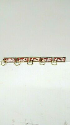 Coca  Cola  Key  Chains < 5 >  1985 - Never Used- Clear Plastic Logo  Protector