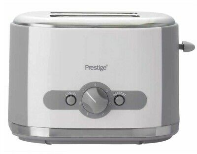 Prestige Oyster 2 Slice Variable Browning Toaster +  Removable Crumb Tray White