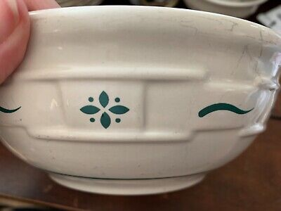 Longaberger Pottery Cereal Bowl Heritage green 26 oz Woven Traditions NEW w//box