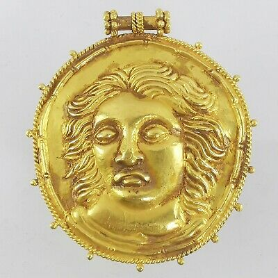 12.97 gm Ancient Alexander the Great Indo-Greek Solid Gold 18K Pendant #A100