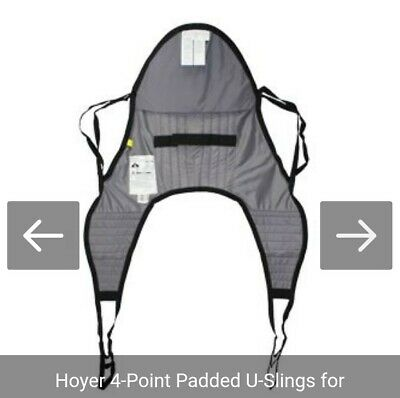 Hoyer Universal Sling Padded W/ Head Support Size Small 70013 Retail $350