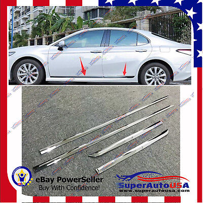 For Toyota Camry 2018-2020 Chrome Stainless Steel Side Body Molding Cover Trim