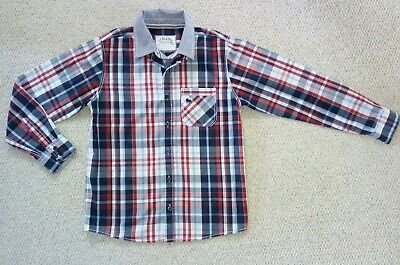 JJ Jeans Jasper Conran Boys Longsleeved Red & Blue Checked Shirt Age 12 VGC