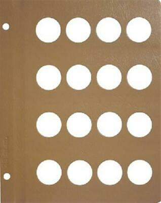 Dansco Coin Album Blank Page 28mm 16 Ports For World Coins / Gold Collection New