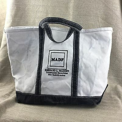 Bernie Madoff Canvas Tote Bag  Personally Owned Property RARE