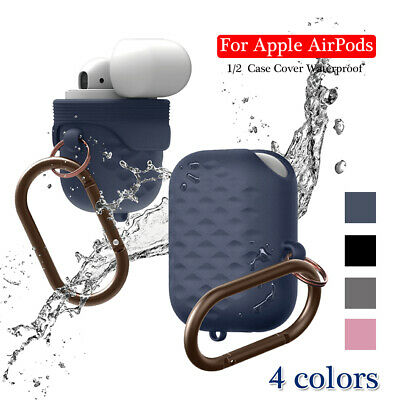Apple AirPods Case Cover Waterproof Hang Active Silicone Skin AirPod 1/2 Case
