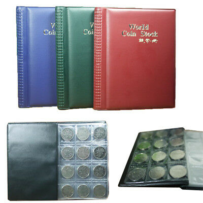120/book Collectors Coin Penny Money Storage Album Book Holder PU Case Folder