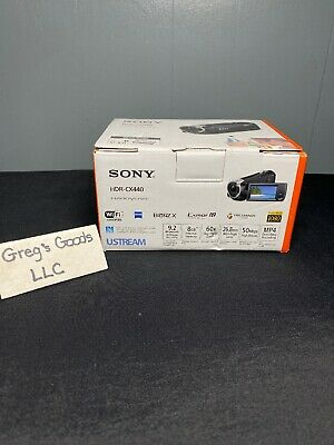Brand NEW Sony HDR-CX440 1080p HD 8GB Internal Memory Black Camcorder Fast Ship!