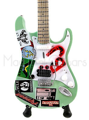 Miniature Guitar BILLIE JOE ARMSTRONG with free stand. GREEN DAY