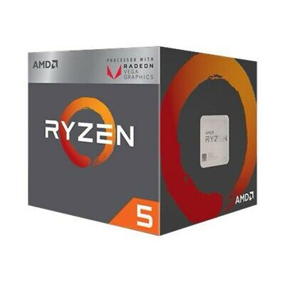 AMD YD2400C5FBBOX Ryzen 5 2400G CPU 3.9 GHz AM4 with RX Vega Graphics Wraith WP.