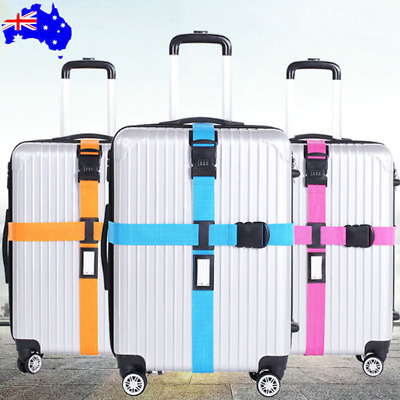 Adjustable Suitcase Luggage cross Strap Travel Baggage Belt Buckle Tie Lock tags