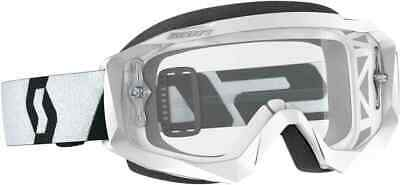 268183-1035113 Scott MX Brille Goggle Hustle X Clear Motocross white/black