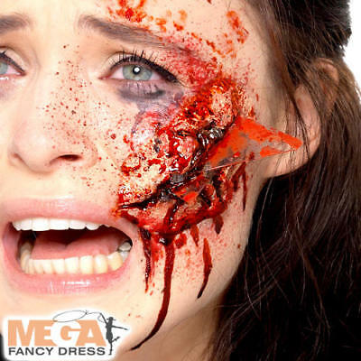 Latex Glass Wound Prosthetic Halloween Fancy Dress Fake Bloody Costume Accessory