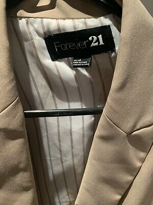Preowned Forever 21 size M beige blazer