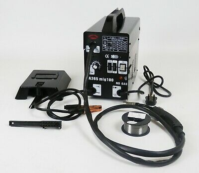Gasless Mig Welder 130 New No Gas 120A amps Non Live Torch DProT