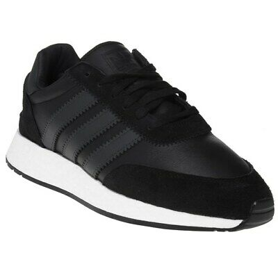 adidas black leather trainers mens