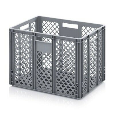 Euro Containers 60x40x42 Perforated Stacking Storage Box Stackable 600x400x420