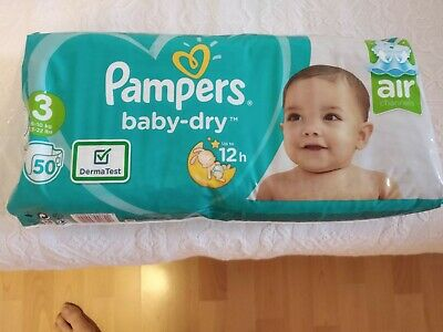 Lot de 3 Pampers Baby-dry Pants Couches - Taille 3 - Neuf sous emballage