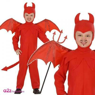 Cheeky Little Red Devil Boys Girls Halloween Fancy Dress Costume Sizes 3-5 Years