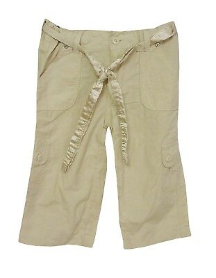 Girls Primark Beige Elasticated Waist Cargo Utility Crop Trousers Age 4-5 Years