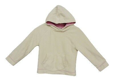 Girls Next Cream White Warm Micro Fleece Long Sleeve Overhead Hoodie Age 4 Years