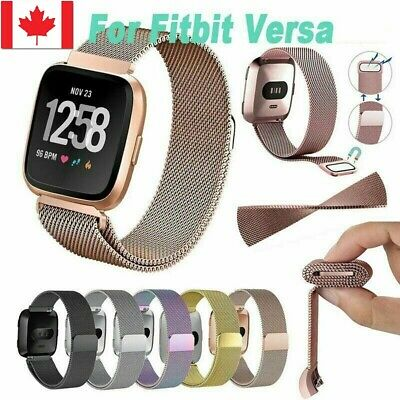 New Replacement For Fitbit Versa Watch Band Milanese Wrist Stainless Metal Strap