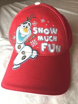 Disney Frozen Snow Much Fun Olaf Red YOUTH SIZE Adjustable Cap Hat RED COTTON