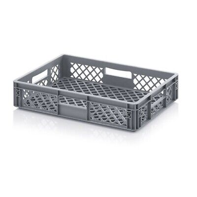 Euro Containers 60x40x12 Perforated Stacking Storage Box Stackable 600x400x120