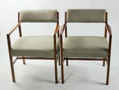 Pair of Retro Danish Style Teak Dining Chairs [ 5505 R]