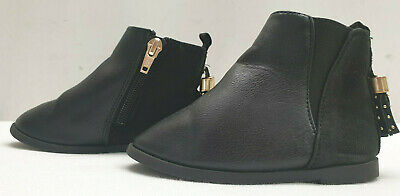 RIVER ISLAND infant baby girls black ankle boots Size UK 5 EU 21
